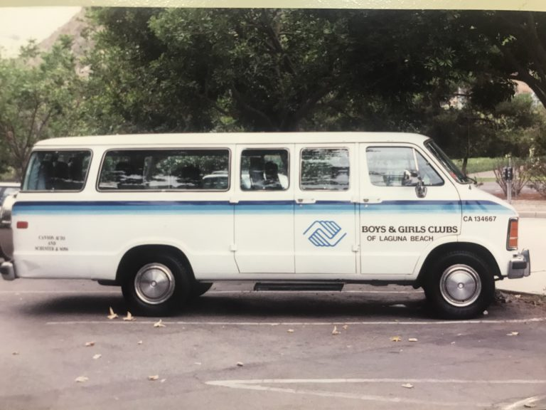 1997 boys and girls club emblemed passenger van