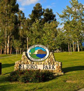 El Toro Park monument sign