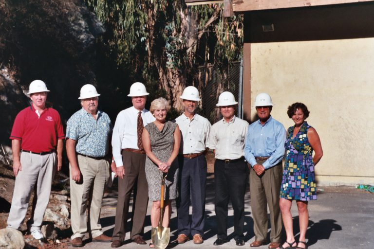 2001 ground breaking photo with board members and executives