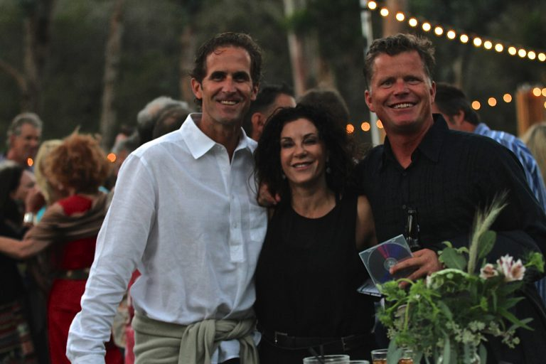 three attendees of the 2014 night at the ranch event