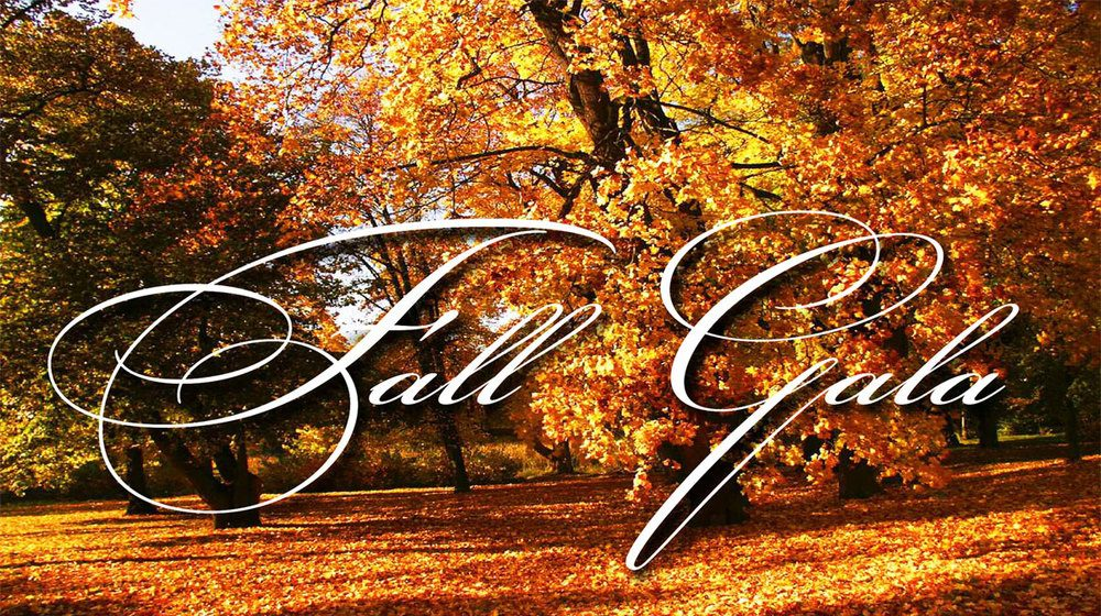 Fall Gala text over fall image