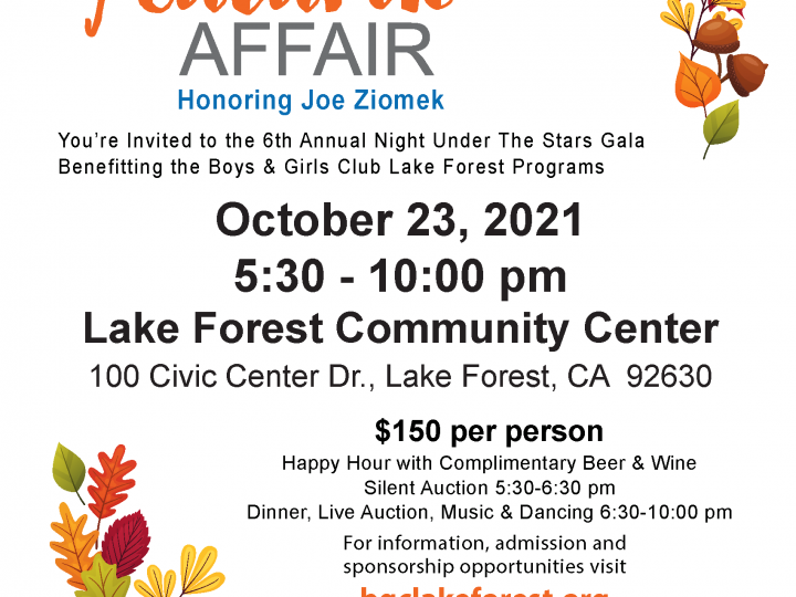 Join us for an Autumn Affair to Benefit our Lake Forest Program!